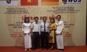 Sinh viên xuất sắc của trường Cao đẳng Sư phạm Hòa Bình nhận học bổng  của Bộ Khoa học và Nghệ thuât Bang Hessen và Tổ chức Hỗ trợ Đại học Thế giới Công Hòa Liên bang Đức (WUS)  năm học 2019 -2020