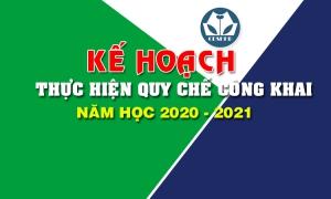Kế hoạch thực hiện Quy chế công khai năm học 2020 - 2021