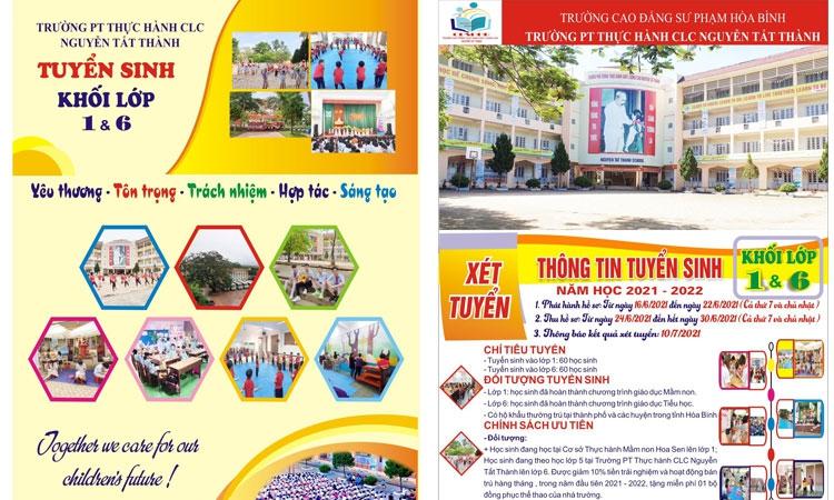Thông tin tuyển sinh năm học 2021-2022, trường Phổ thông thực hành chất lượng cao Nguyễn Tất Thành
