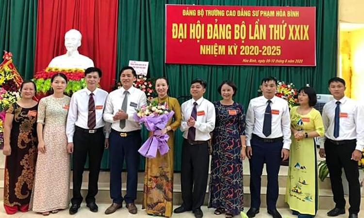 Đại hội đảng bộ trường Cao đẳng Sư phạm Hòa Bình, nhiệm kỳ 2020 - 2025