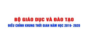 Bộ GDĐT điều chỉnh khung kế hoạch thời gian năm học 2019-2020 lần 2
